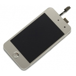 Silver LCD Touch Digitizer Screen Assembly replacement for iPod Touch 4