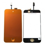Plated Orange LCD Touch Digitizer Screen Assembly replacement for iPod Touch 4