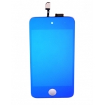 Plated Blue LCD Touch Digitizer Screen Assembly replacement for iPod Touch 4