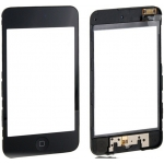 Black Touch Screen Digitizer with Frame Assembly replacement for iPod Touch 2