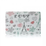 Paris Eiffel LOVE Pattern Hard Case Protective Cover for Macbook Air/Pro/Retina