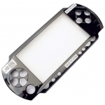 Upper Faceplate Front Cover Screen replacement Shell for PSP1000 Black/White