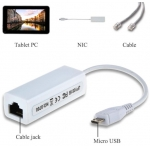 5 Pin Micro USB 2.0 Ethernet 10/100Mbps RJ45 Network Lan Adapter Card For Android Tablet PC
